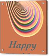 Slinky - Happy Birthday Card 2 Acrylic Print
