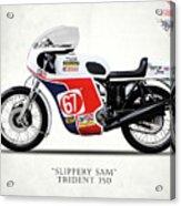 Slippery Sam Production Racer Acrylic Print