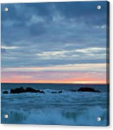 Sliver Of Pink At Moonstone Beach Acrylic Print