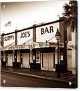 Sloppy Joe's - Key West Florida Acrylic Print by Bill Cannon