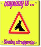 Sloshing Bigstock Donkey 171252860 Acrylic Print