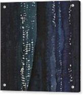 Slot Canyon In Moonlight Original Painting Acrylic Print