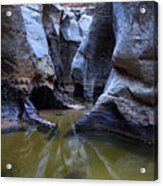 Slot Canyon In Zion National Park Acrylic Print
