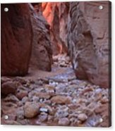 Slot Canyon Reflections Acrylic Print