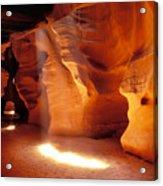 Slot Canyon Warm Light Acrylic Print