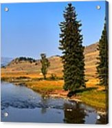 Slough Creek Afternoon Panrama Acrylic Print