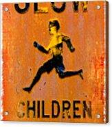 Slow Children Playing Acrylic Print