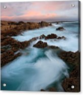 Slow Exposure Kerry Sunset Ireland Acrylic Print