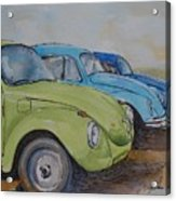 Slugbug Green Acrylic Print
