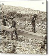 Sluice Box Placer Gold Mining C. 1889 Acrylic Print