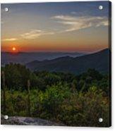 Skyline Drive National Park At Sunset Acrylic Print