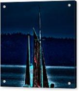 Small Among The Tall Ships Acrylic Print