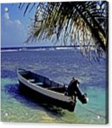 Small Boat Belize Acrylic Print
