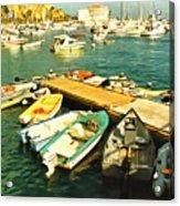Small Boat Dock Catalina Island California Acrylic Print