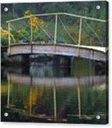 Small Bridge In Double Flowered Acrylic Print