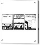 Small Brown Bike Comic Acrylic Print