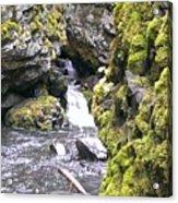 Small Falls At Boulder Cave Acrylic Print