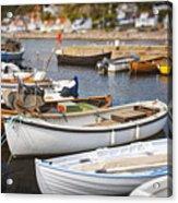 Small Fishing Boats Acrylic Print