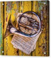 Small French Horn Acrylic Print