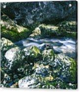 Small Freshwater Spring Under Rocks Acrylic Print