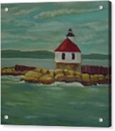 Small Island Lighthouse Acrylic Print