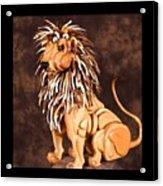 Small Lion Acrylic Print by Thomas Thomas