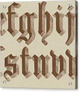 Small Old English Riband  Acrylic Print