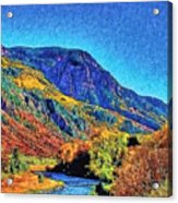 Small River Valley Acrylic Print