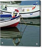 Small Skiffs - Lyme Regis Harbour Acrylic Print