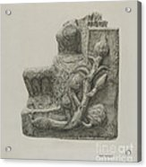 Small Stone Fountain Acrylic Print