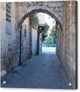 Small Street In Jerusalem Acrylic Print