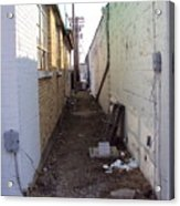 Small Town Alley Acrylic Print
