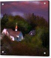 Small Town Church Acrylic Print