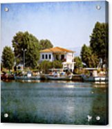 Small Town In Greece Acrylic Print