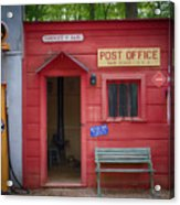Small Town Post Office Acrylic Print