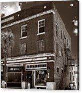 Small Town Shops - Sepia Acrylic Print