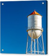 Small Town Water Tower Acrylic Print