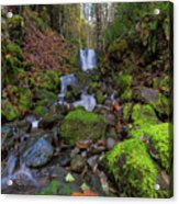 Small Waterfall At Lower Lewis River Falls Acrylic Print