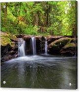 Small Waterfall At Rock Creek Acrylic Print