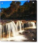 Small Waterfall In Australian Landscape  Acrylic Print