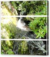 Small Waterfall Smoky Mountains Triptych Acrylic Print