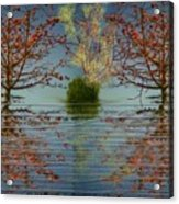 Small  Wood Lake.face To Face Acrylic Print