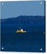 Small Yellow Boat Acrylic Print