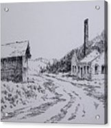 Smelter Ruins Glendale Ghost Town Montana Acrylic Print