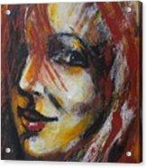 Smile - Portrait Of A Woman Acrylic Print