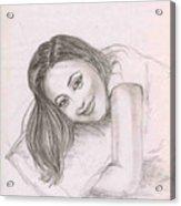 Smiling Girl Acrylic Print
