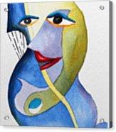 Smiling Girl Acrylic Print by Carolyn Weir