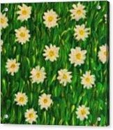 Smiling Margaret's Flowers Acrylic Print