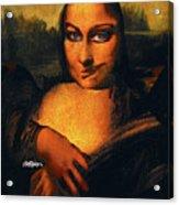 Smirking Mona Acrylic Print