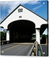 Smith Covered Bridge - Plymouth New Hampshire Usa Acrylic Print